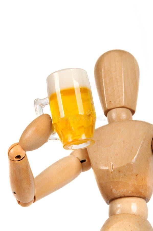 Dummy with beer mug stock photo