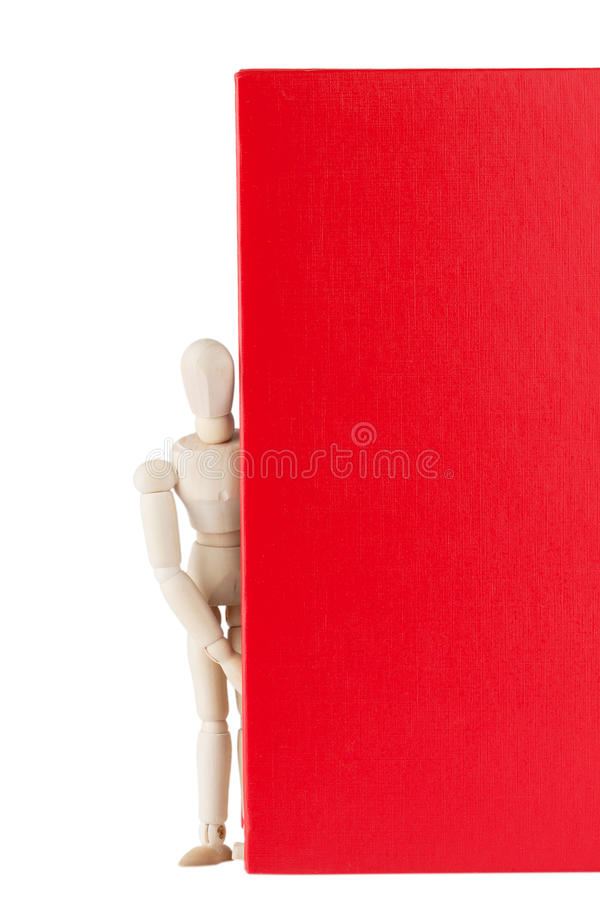Download Dummy with the book stock photo. Image of ability, failure - 24773574