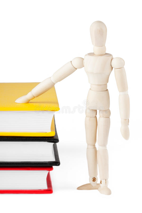 Download Dummy with the books stock photo. Image of examination - 24141766