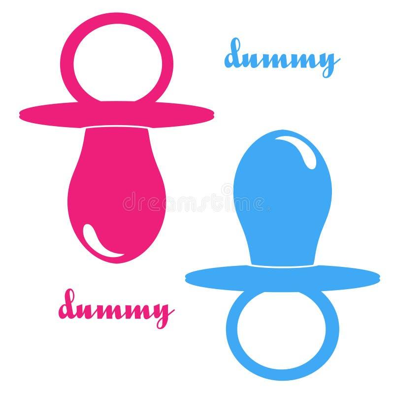 dummy boy and girl royalty free illustration