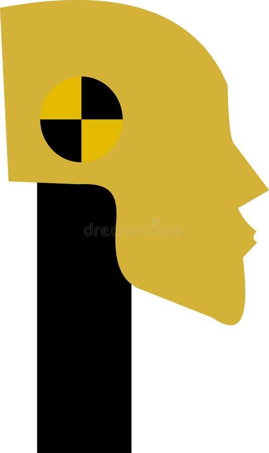 Dummy head. Illustration of a dummy head royalty free illustration