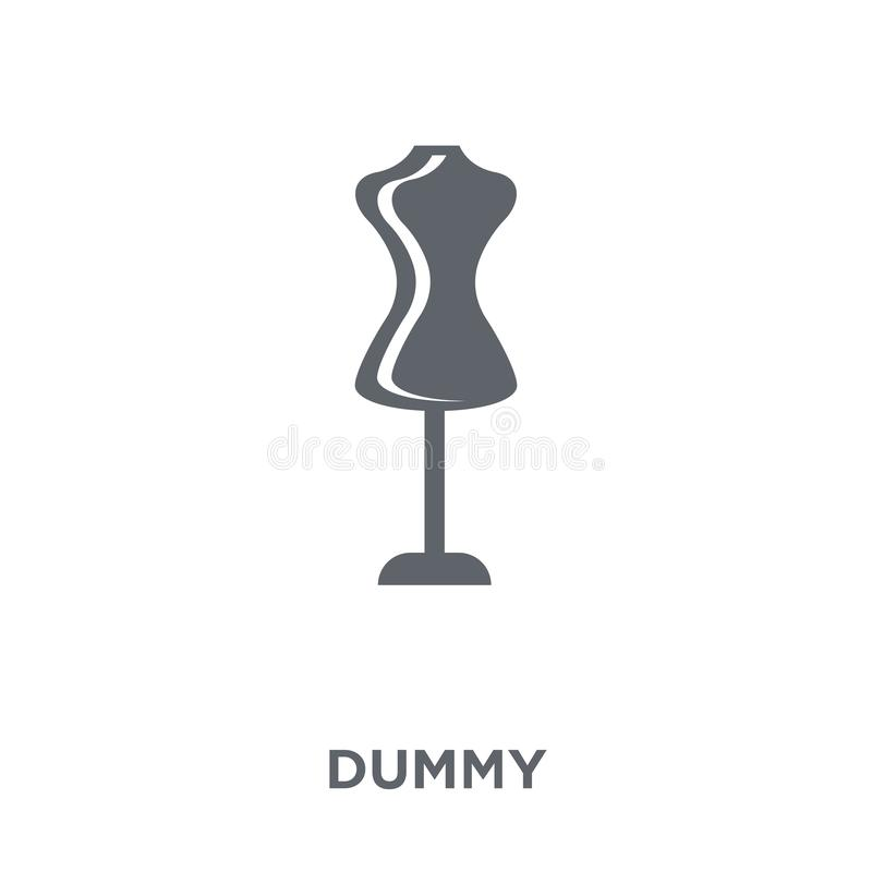 Dummy icon from collection. stock illustration