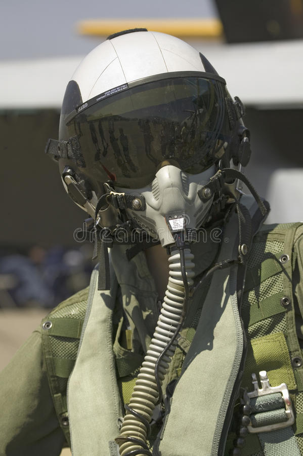 Dummy Jet Pilot. With flight suit posing at the 42nd Naval Base Ventura County (NBVC) Air Show at Point Mugu, Ventura County, Southern California stock photo