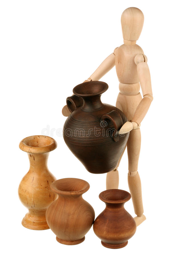 Dummy And Jugs Royalty Free Stock Image