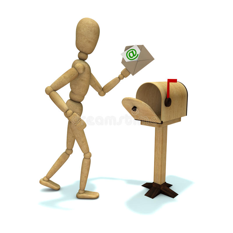 Dummy with mail royalty free illustration