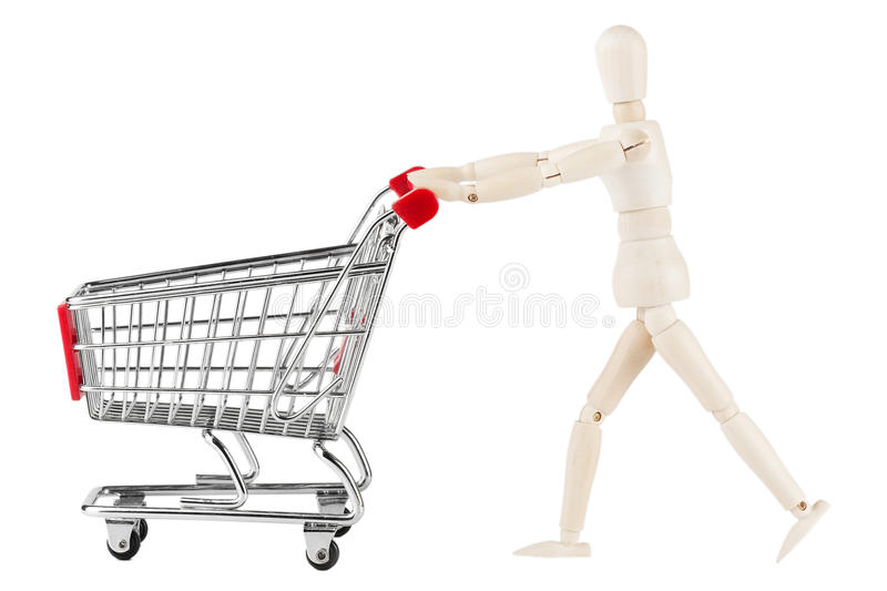 Dummy and shopping cart stock images