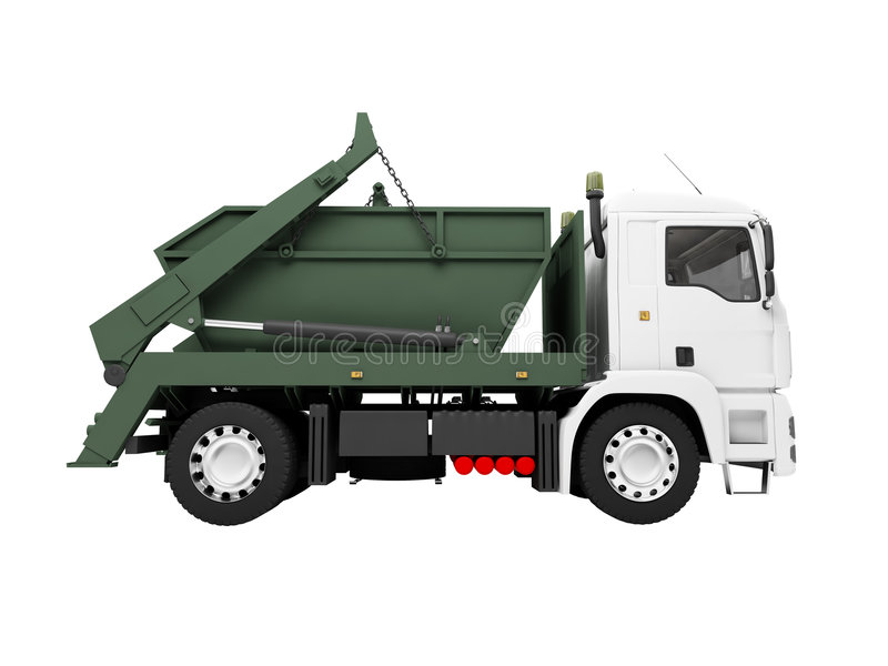 Dump car isolated side view vector illustration