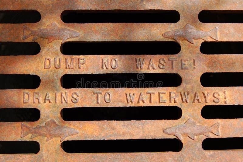 Dump geen afval stock fotografie