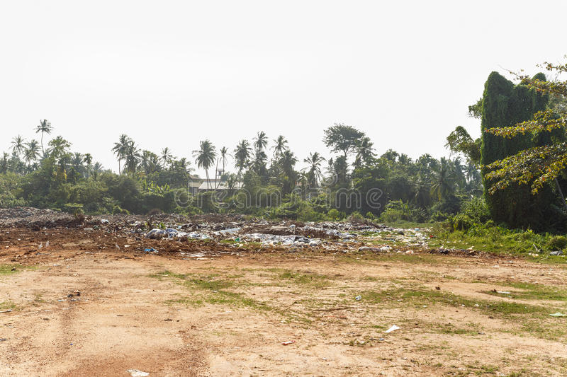 Dump, landfill the middle of the jungle. In Sri Lanka royalty free stock photos