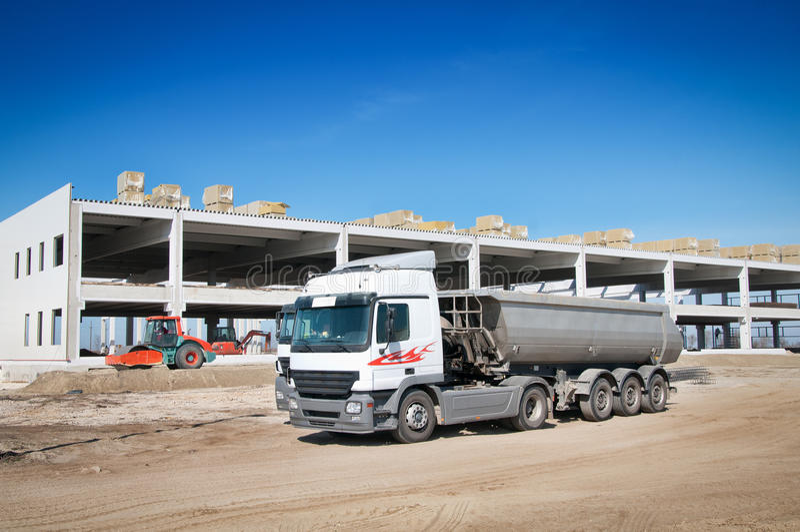 Download Dump Truck stock image. Image of building, dumper, material - 24147659