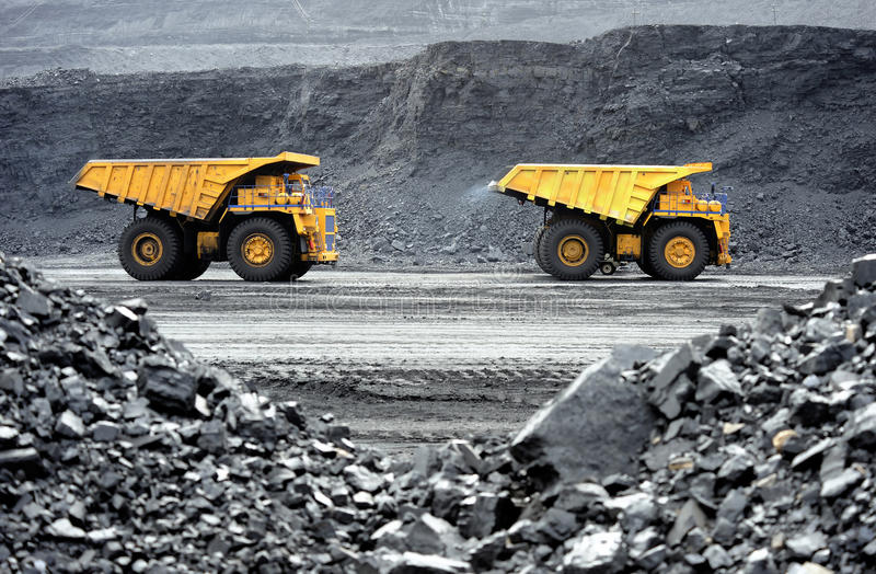 The dump truck royalty free stock photo
