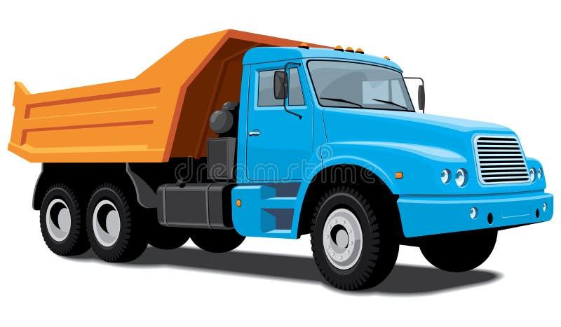 Download Dump truck stock vector. Image of large, orange, automobile - 26972880