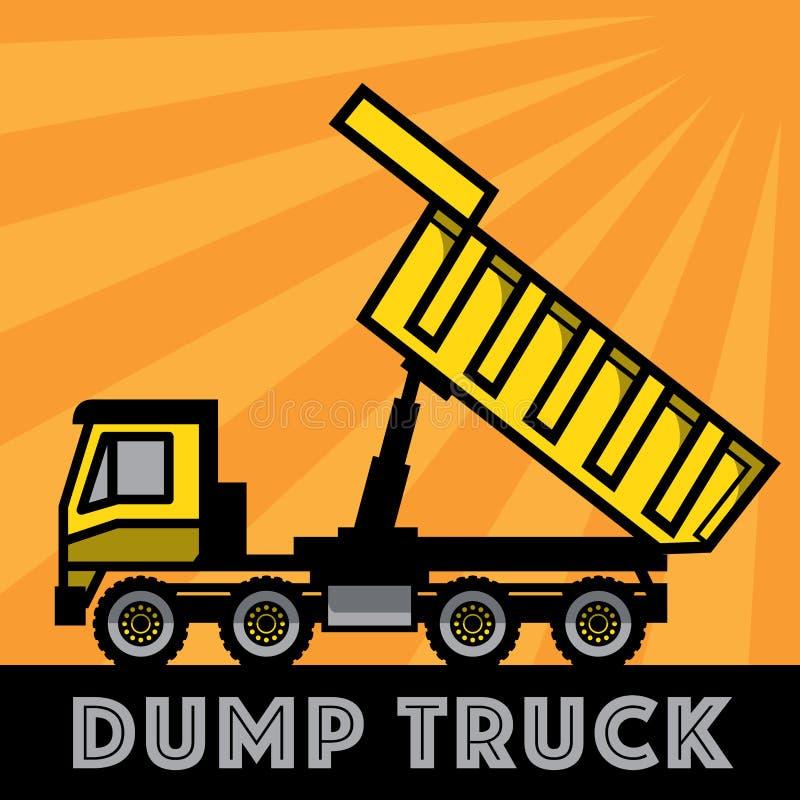 dump truck ilustración del vector