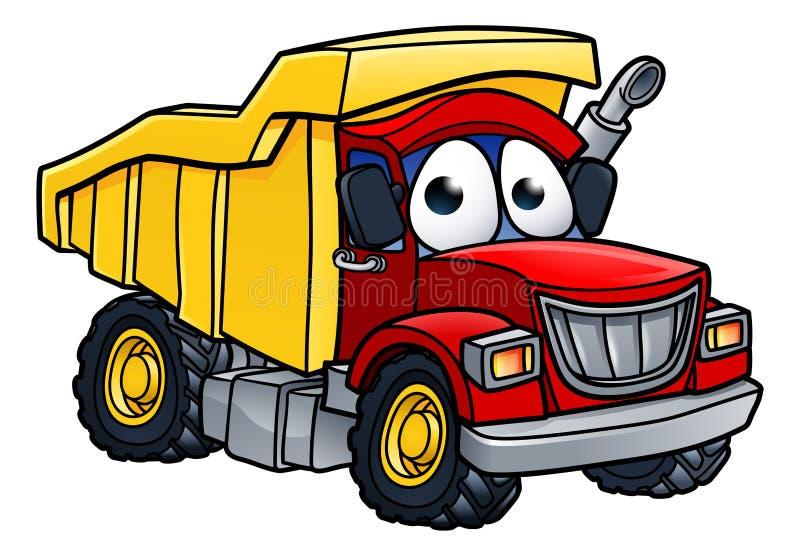 Dump Truck Cartoon Character. Cartoon character dump tipper truck lorry construction vehicle illustration stock illustration