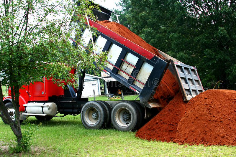 Dump Truck Dumping royalty free stock photos