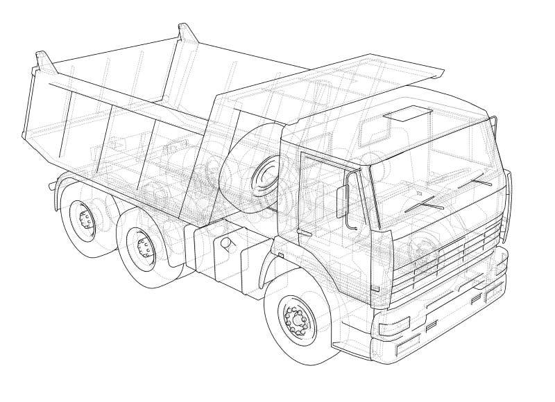 dump truck illustration 3D illustration libre de droits