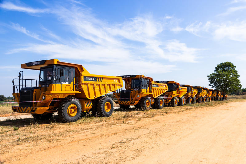 Dump truck royalty free stock image