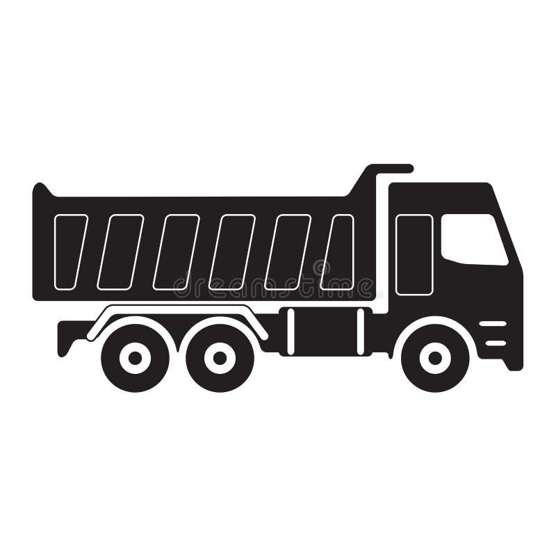 dump truck Silhouette noire de camion à benne basculante Illustration de vecteur illustration libre de droits