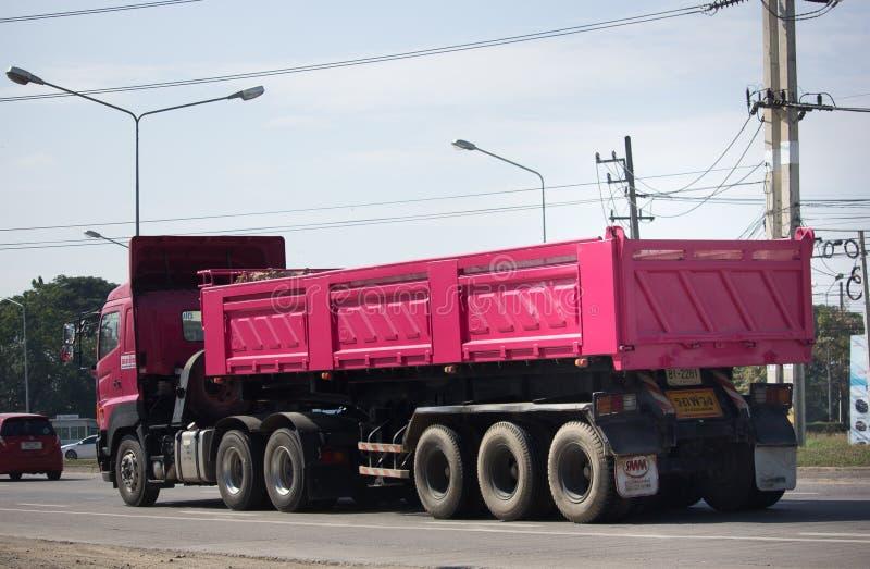 Dump truck of Thanachai Company. stock images