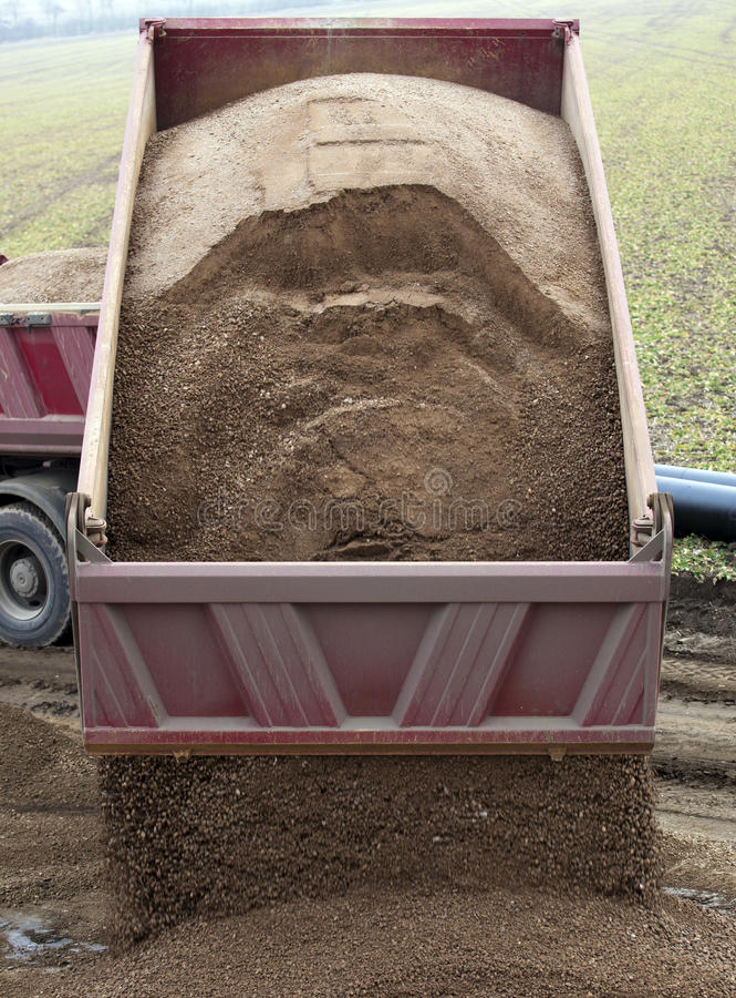 Dump Truck Unloading royalty free stock photography