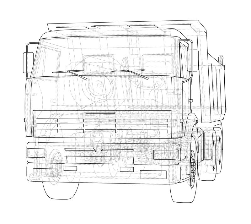 dump truck Vecteur illustration stock