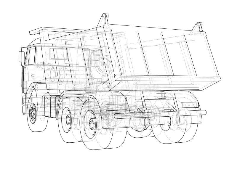 dump truck Vecteur illustration libre de droits