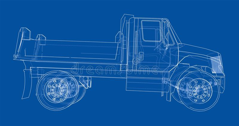 dump truck Vecteur illustration stock