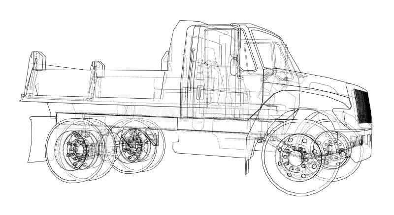 dump truck Vetor ilustração do vetor