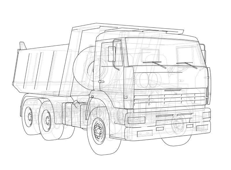 dump truck Vettore illustrazione di stock