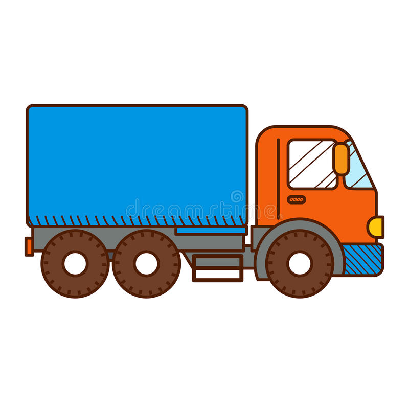 Dump Truck on white background royalty free illustration
