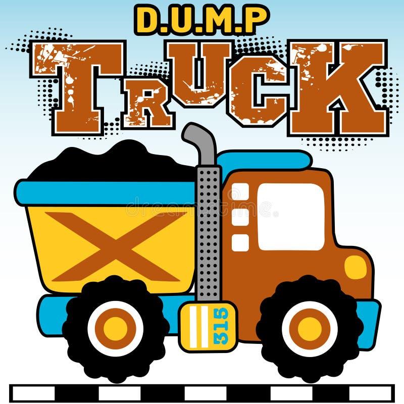 Dump trucks royalty free illustration
