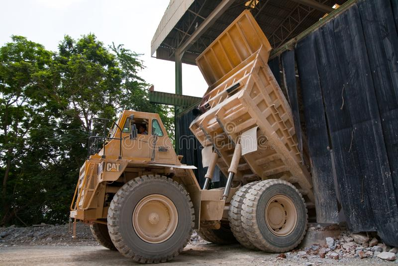 Dump trucks royalty free stock images