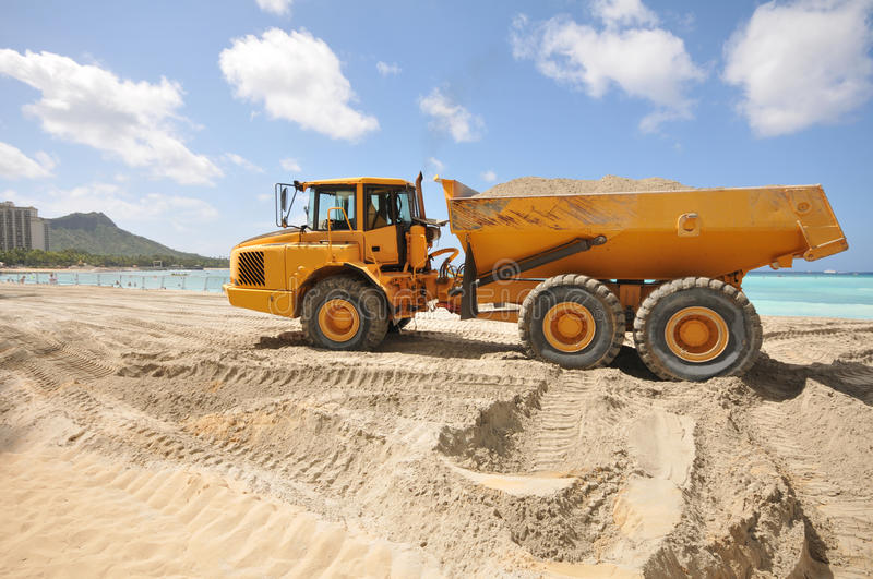 Download Dump Trunk Full Of Sand On A Beach Stock Image - Image: 24410553