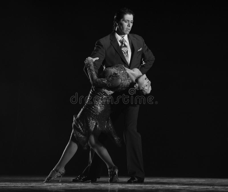 Dump in your arms.-The identity of the mystery-Tango Dance Drama. Fernanda Ghi and Guillermo Merlo is Argentina's most famous tango dancer, is also a famous royalty free stock photo