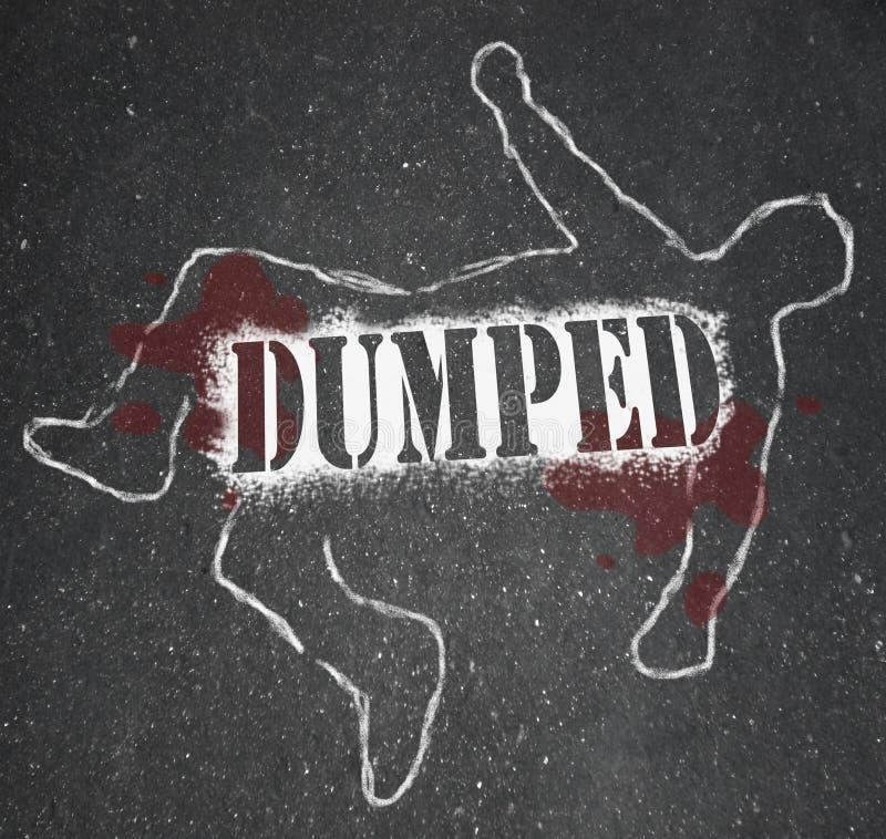 Dumpat - kritaöversikt av denarbetare eller Före detta-vän upplösningen royaltyfri illustrationer