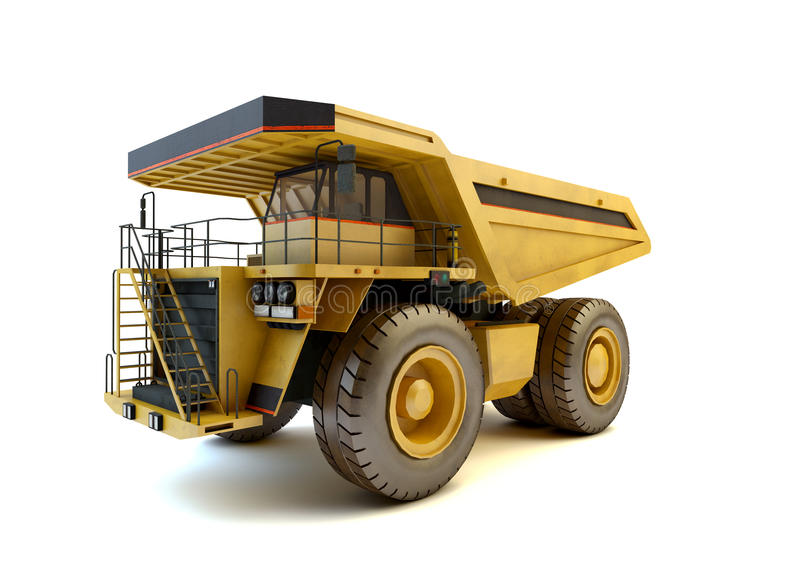 Dumper industrial truck isolated royalty free stock photo