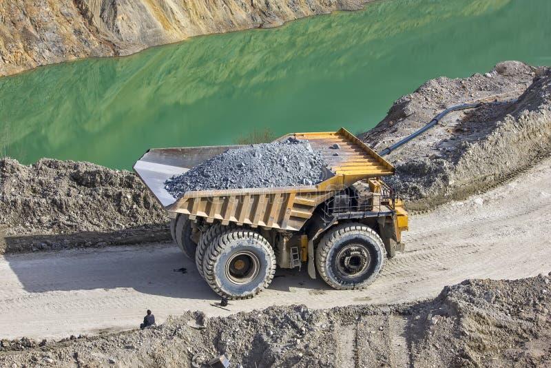 Dumper in open pit. Big Dumper in open pit stock image