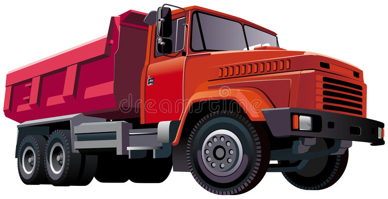 Dumper rouge illustration libre de droits