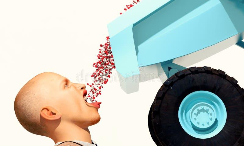 Dumping de médicament illustration stock