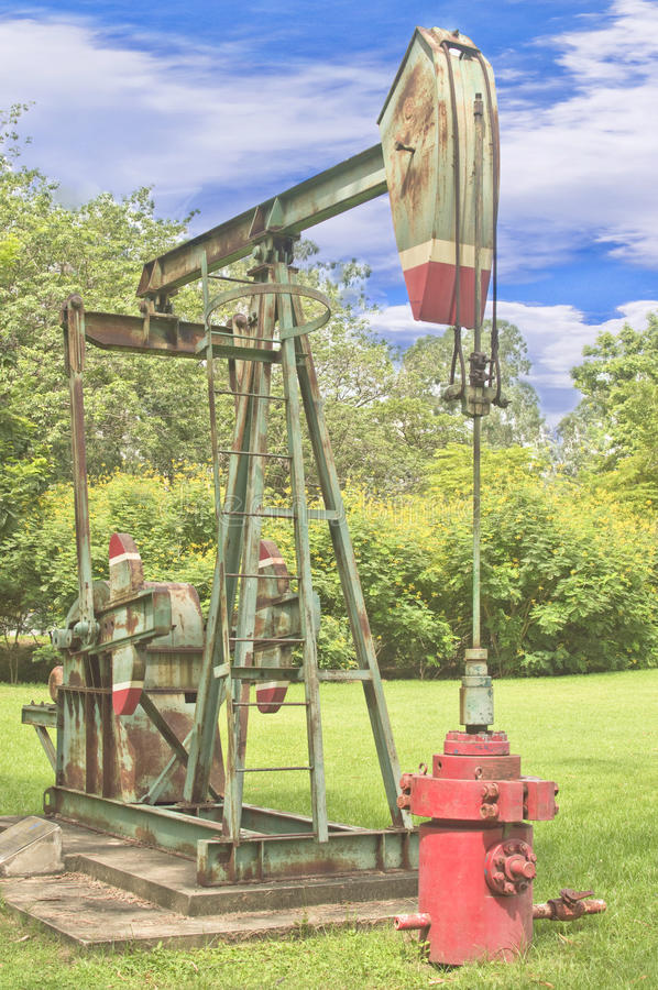 Dumping drilling simulator located in a park in Bangkok.p. Dumping drilling simulator located in a park in Bangkok royalty free stock image