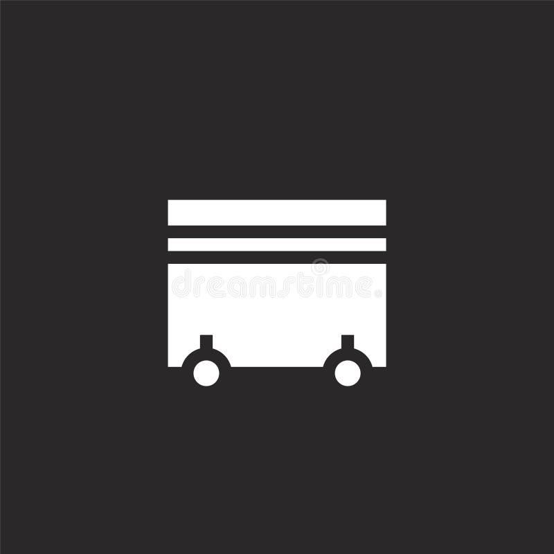 dumpster εικονίδιο Γεμισμένο dumpster εικονίδιο για το σχέδιο ιστοχώρου και κινητός, app ανάπτυξη dumpster εικονίδιο από τη γεμισ διανυσματική απεικόνιση