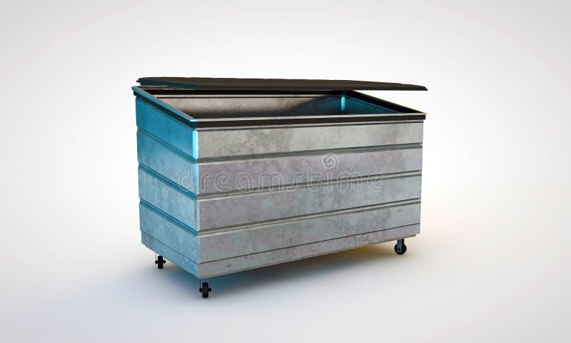 Dumpster. On white background royalty free stock photos