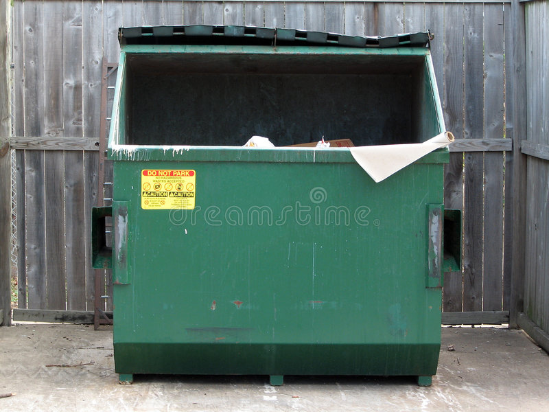 dumpster royaltyfria foton
