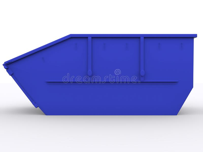 Dumpster container. On white background stock images