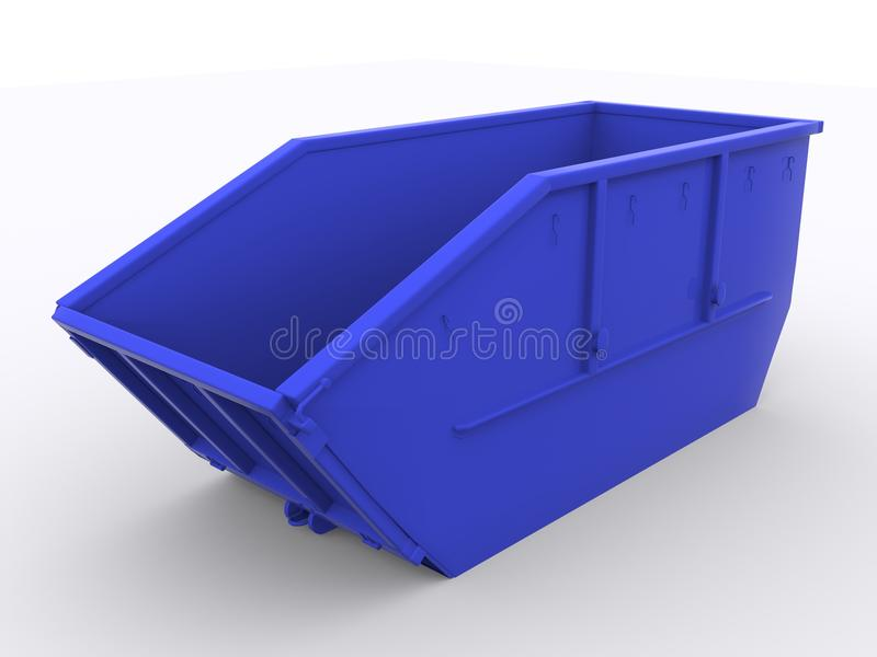 Dumpster container. On white background royalty free stock images