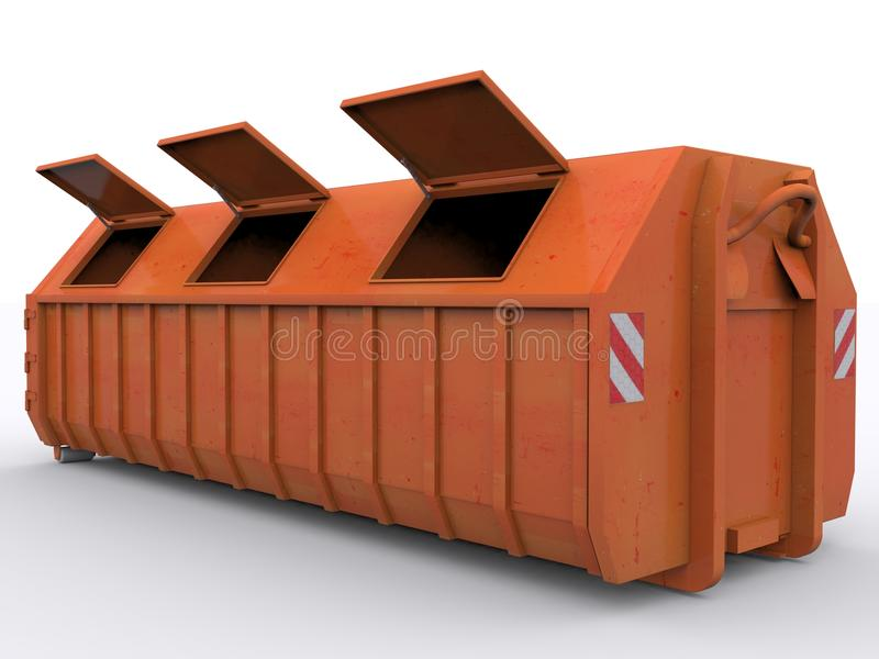 Dumpster Container. On white background royalty free stock photo