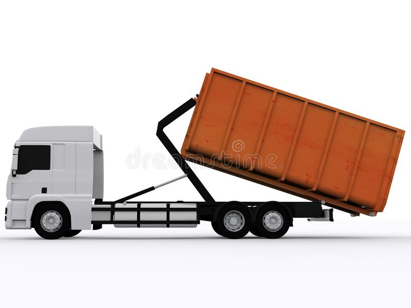 Dumpster Container. On white background royalty free stock photography