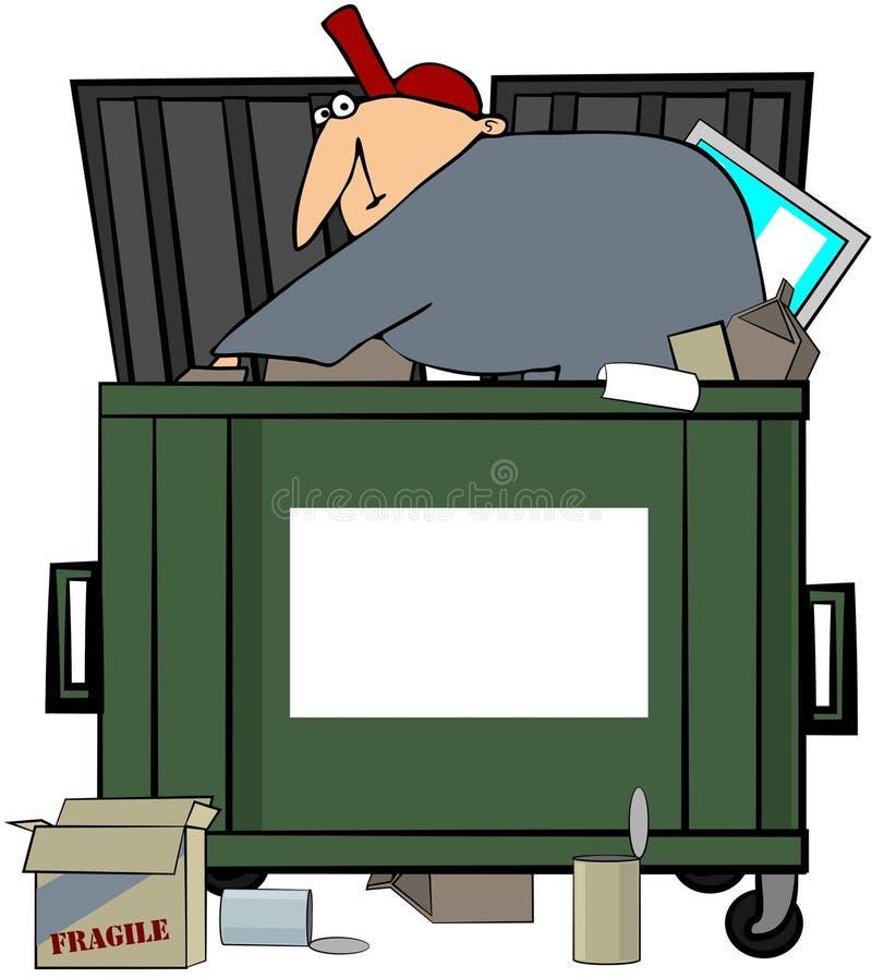 Download Dumpster Diving Man stock illustration. Illustration of male - 14851499