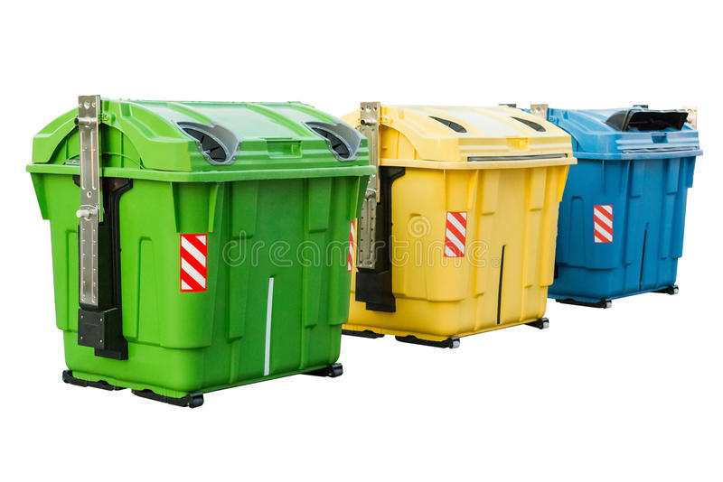 Dumpster. Isolated on white background royalty free stock images