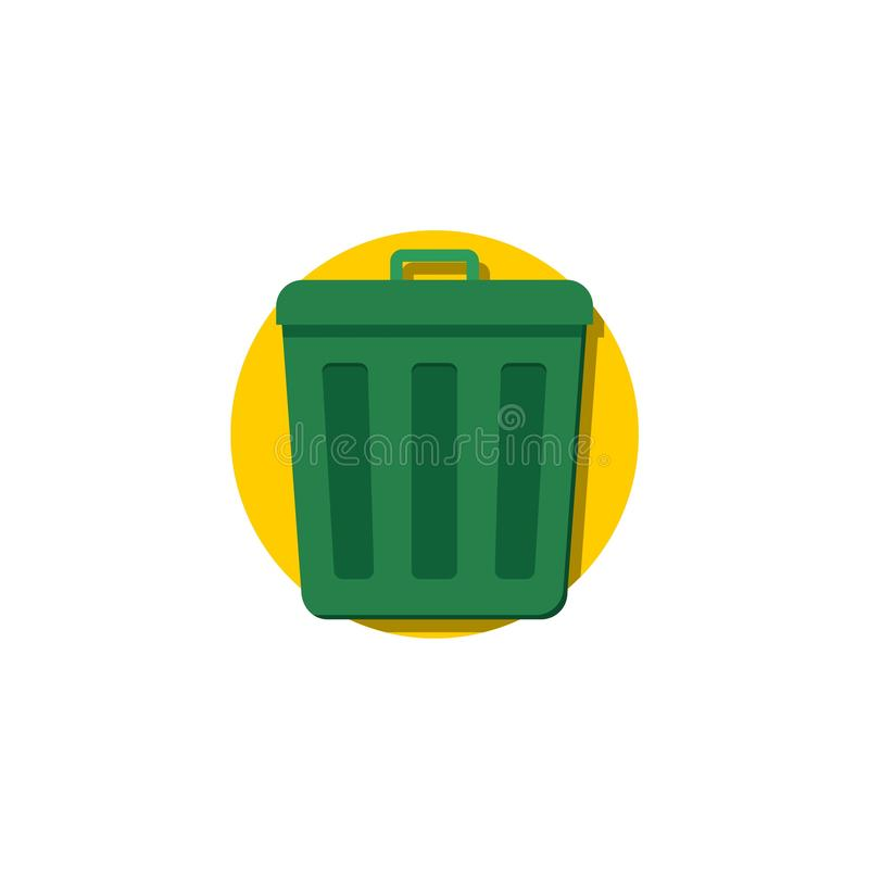 Dumpster or Trash can, Sorting garbage icon logo sign vector illustration
